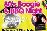School's Out 80's Boogie and BBQ Night – Friday 17th July 2015
