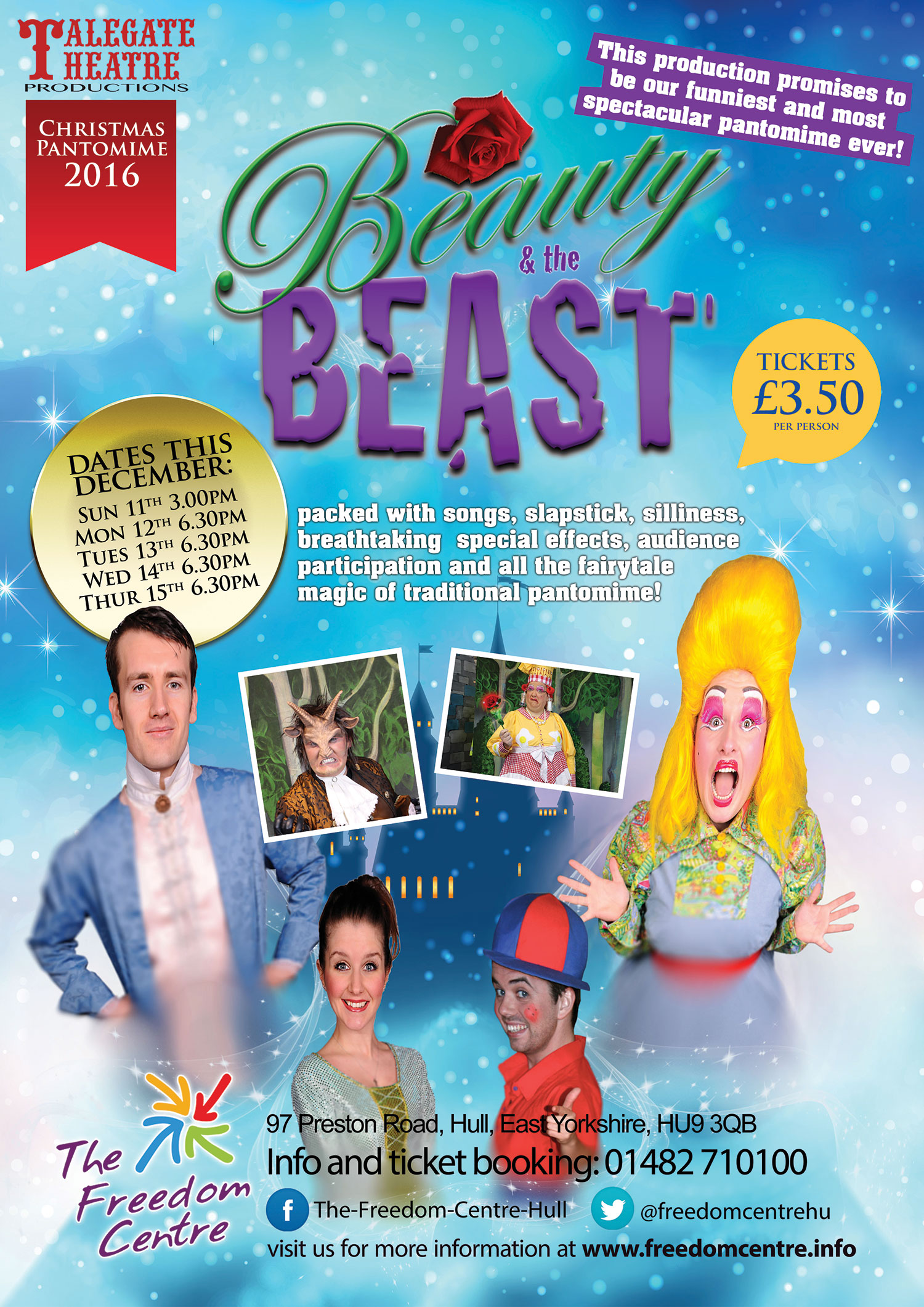 Christmas pantomime - Beauty and the Beast